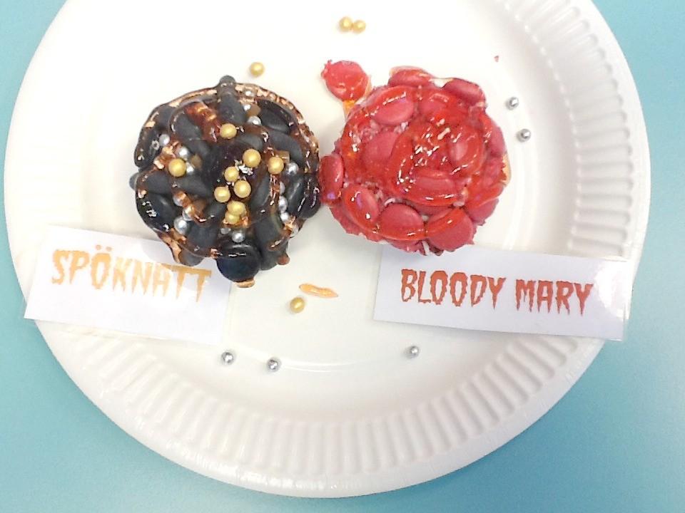 Cupcakes Bloody Mary och Spöknatt