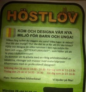 Höstlov, annons