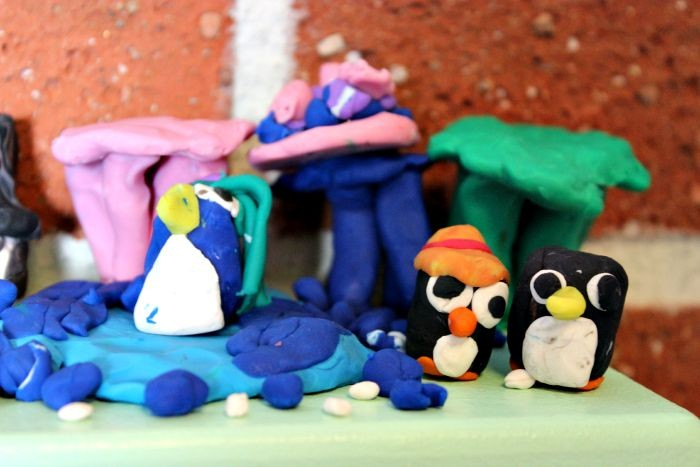 Pingvinvärld Litteraturhuset Trampolin