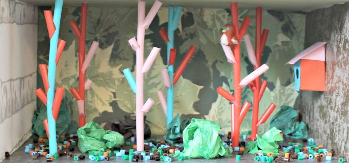 Tittskåp fågelskog Trampolin